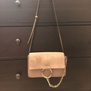 Chloe Small Faye Leather/Suede Shoulder Bag